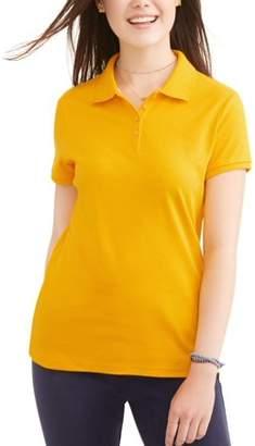 Wonder Nation Juniors Plus School Uniform Short Sleeve Interlock Polo