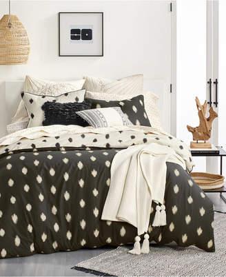 Lucky Brand Ikat Dot Cotton 3-Pc. Full/Queen Duvet Cover Set