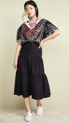 RED Valentino Button Front Skirt