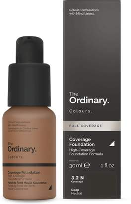 The Ordinary NEW Coverage Foundation (3.2 N) 30ml Womens Makeup