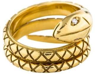 Temple St. Clair 18K Diamond Snake Ring