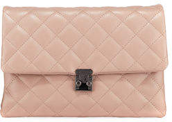 Jagger Kc Kiera Diamond-Quilt Leather Clutch Bag