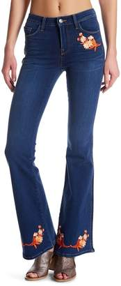 Genetic Los Angeles Florence Floral Embroidered Flare Jeans
