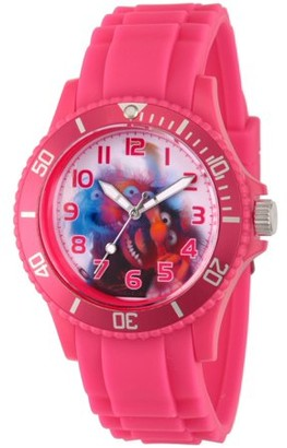 Disney Muppets Women's Pink Plastic Watch, Pink Bezel, Pink Plastic Strap