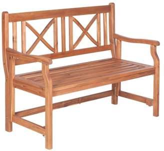 Walker Edison 48 Acacia Wood Folding Bench