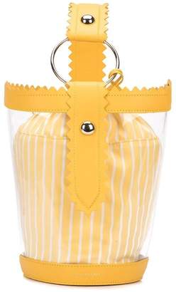 Sara Battaglia clear bucket bag yellow