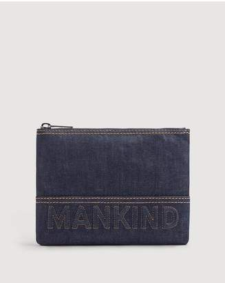 7 For All Mankind Small Mankind Clutch In Denim