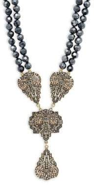 Heidi Daus Dramatic Beaded Pendant Necklace