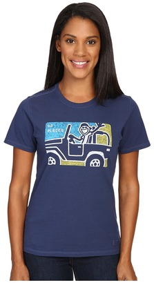 Life is good Go Places 4x4 Crusher Tee $26 thestylecure.com