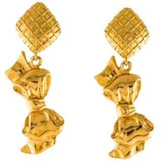 Chanel Bow Drop Earrings