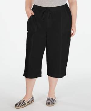 Karen Scott Plus Size Cotton Edna Capris, Created for Macy's