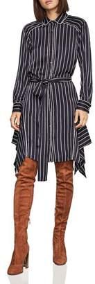 BCBGMAXAZRIA Asymmetric Striped Dress