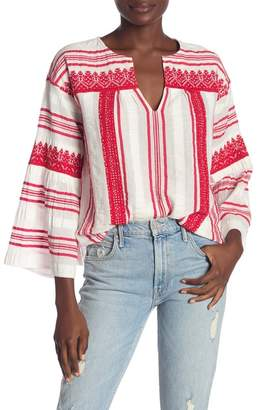 Joie Selbea 3/4 Sleeve Stripe Knit Blouse