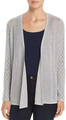 Design History Pointelle Mixed Knit Cardigan
