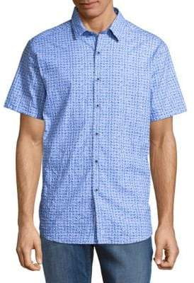 Robert Graham Khan Cotton Button-Down Shirt