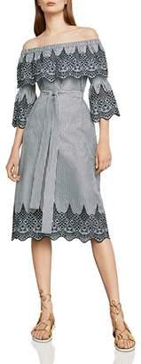 BCBGMAXAZRIA Eyelet-Trim Off-The-Shoulder Dress