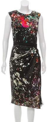 J. Mendel Splatter Print Silk Dress