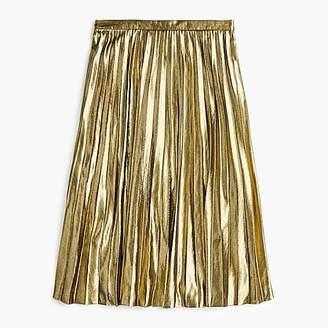 J.Crew Pleated metallic midi skirt