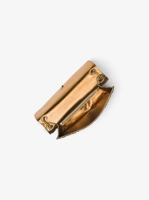 Michael Kors Goldie Metallic Brocade Shoulder Bag