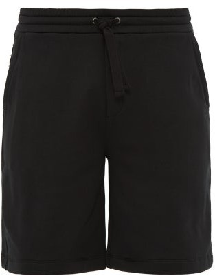 Valentino Rockstud Cotton Blend Shorts - Mens - Black