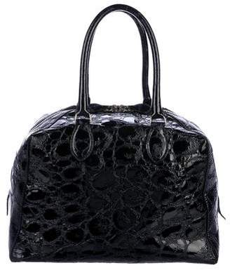 0fceeab44e39 Pre-Owned at TheRealReal · Alaia Embossed Patent Leather Handle Bag