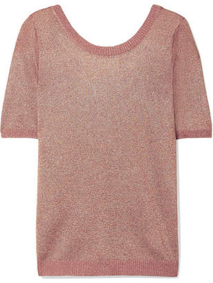 Missoni Metallic Stretch-knit Top - Pink