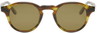 Bottega Veneta Green Acetate Round Sunglasses