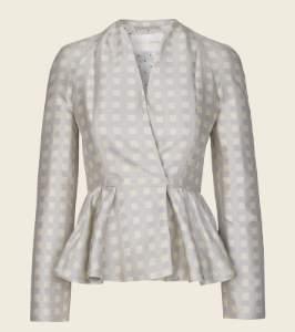 Stine Goya Silver Checked Tulip Suit Blazer - XS - Grey