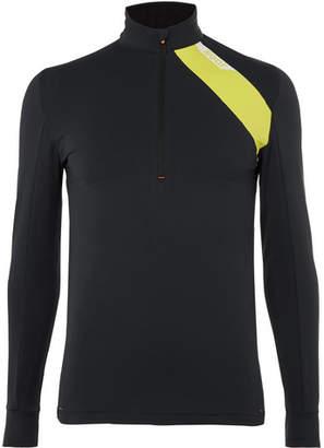 Soar Running Mid-Temperature Half-Zip Stretch-Jersey Top