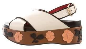Marni Floral Flatform Sandals