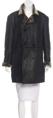 Donna Karan Shearling Short Coat
