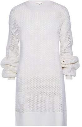 McQ Open-Knit Wool Mini Dress