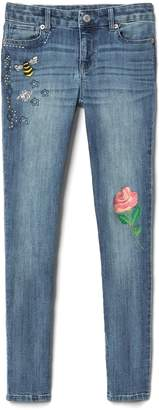 Gap Super Skinny Jeans with Embroidery Detailing in High Stretch