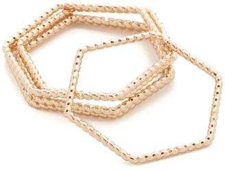 Shashi Emily Ring Set $35 thestylecure.com