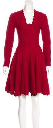 Alaia Matelassé Fit and Flare Dress