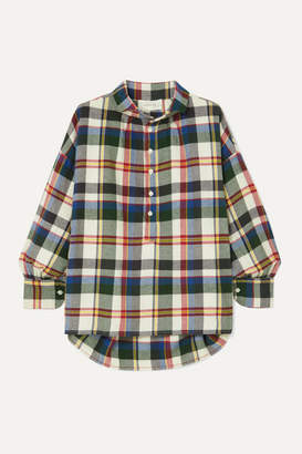 The Great The Painter's Smock Checked Cotton-flannel Shirt - Navy