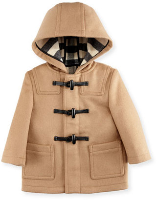 Burberry Brogan Hooded Duffle Coat, New Camel, Size 6M-3 $450 thestylecure.com
