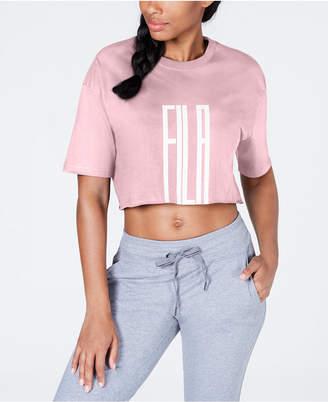 Fila Cotton Logo Cropped T-Shirt