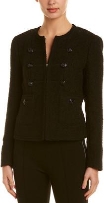 Anne Klein Wool-Blend Military Jacket