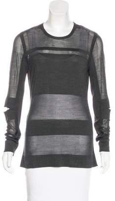 Jason Wu Silk Long Sleeve Top