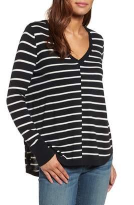 Caslon High-Low V-Neck Sweater
