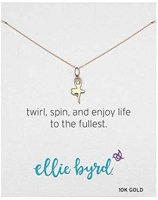 ellie byrd 10k Gold Ballerina Pendant Necklace
