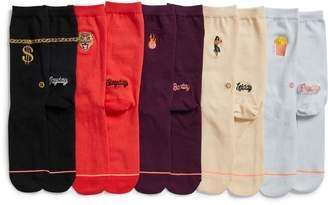 Stance Days of the Week Pack of 5 Crew Socks