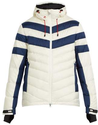Perfect Moment - Chatel Hooded Quilted Down Ski Jacket - Mens - White Multi