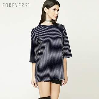 Forever 21 (フォーエバー 21) - Forever 21 ストライプミニワンピース