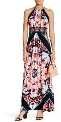 London Times Halter Print Maxi Dress (Petite)