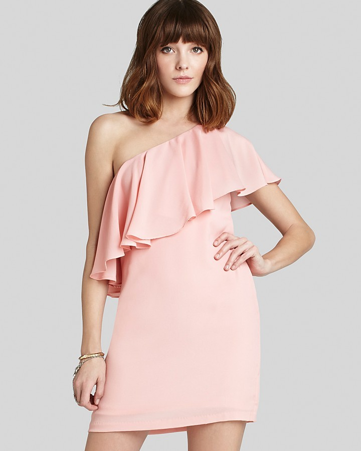 BCBGeneration Dress - One Shoulder Flounce