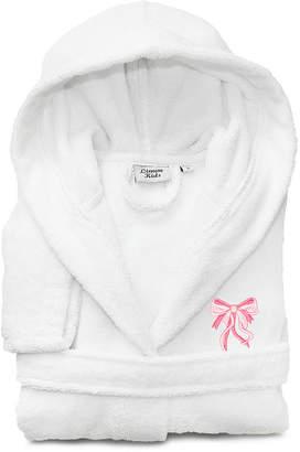 Asstd National Brand Linum Kids 100% Turkish Cotton Hooded Terry Bathrobe - Bow Design