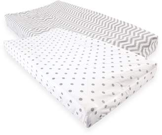 Luvable Friends Cotton Changing Pad Cover, 2 Pack