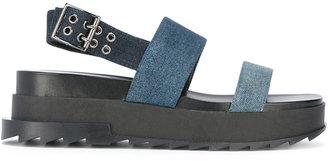 Diesel Dyeletta sandals $179.19 thestylecure.com